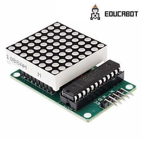 Módulo Display Matriz Puntos 64 Leds Max7219 Arduino