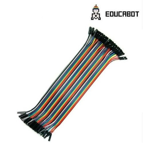 Pack 40 Cables Hembra Hembra 30cm Dupont Arduino - comprar online