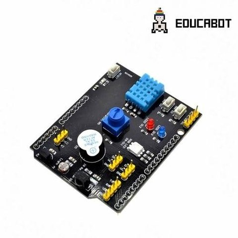 Shield Educativo Multifunción Arduino Led/ldr/dht11/pote/rgb