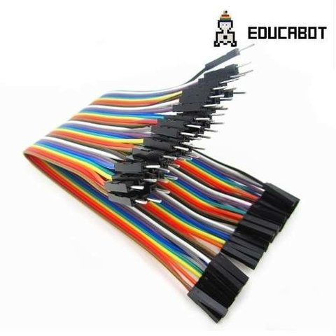 Pack 40 Cables Macho Hembra 20cm Dupont Arduino Y Protoboard