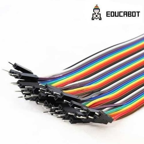 Pack 40 Cables Macho Macho 20cm Dupont Arduino Y Protoboard