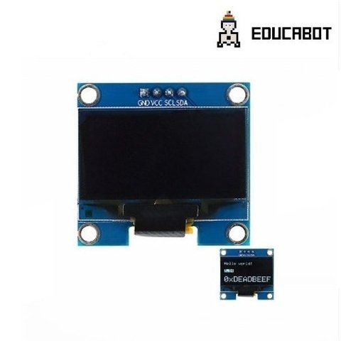 Display Oled 0.96 Blanco 128x64 I2c Ssd1306 Arduino