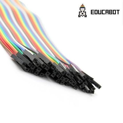 Pack 40 Cables Macho Hembra 20cm Dupont Arduino Y Protoboard - comprar online