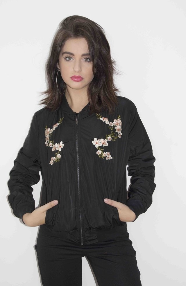 Campera Bomber Bordada