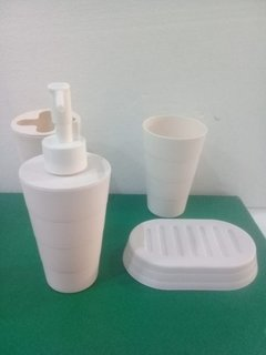 Set Baño X4 Dispenser Jabonera Portacepillo Palermo O Centro - IDEAS OBELISCO Bazar Boutique