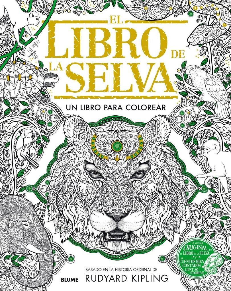 74414673d EL LIBRO DE LA SELVA: UN LIBRO PARA COLOREAR por RUDYARD KIPLING