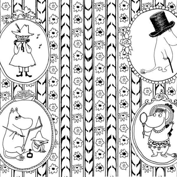 Los Mumin, un libro para colorear por Tove Jansson