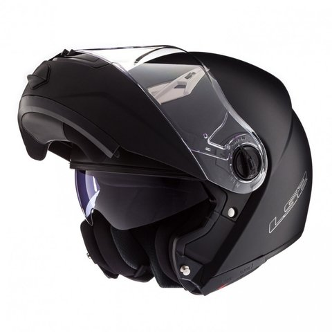CASCO 370 EASY NEGRO MATE REBATIBLE - comprar online
