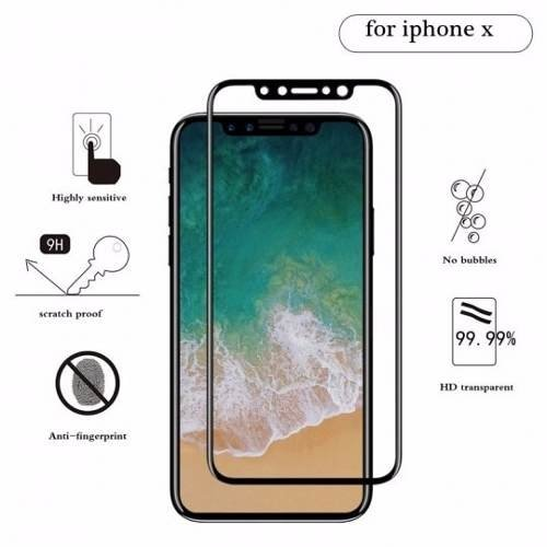 Film Protector X Vidrio Templado Iphone X Cover Glass Screen - comprar online