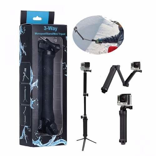 Monopod Articulado Palo Selfies 3 Way Tripode Gopro Steady en internet