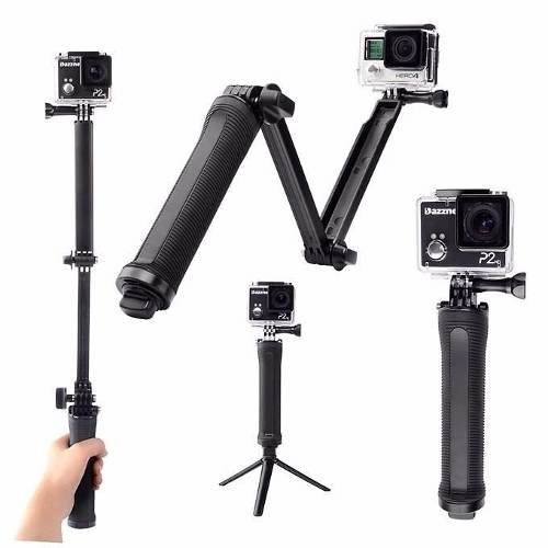 Monopod Articulado Palo Selfies 3 Way Tripode Gopro Steady
