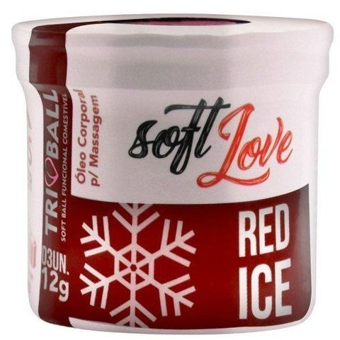 Soft Love - Soft Ball RED ICE - 3 unidades