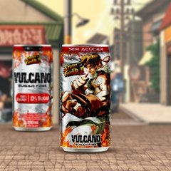 Kit Vulcano Energy Drink 250ml lata Street Fighter - comprar online