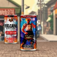 Kit Vulcano Energy Drink 250ml lata Street Fighter na internet