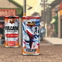 Kit Vulcano Energy Drink 250ml lata Street Fighter - Loja Vulcano