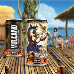 Kit Vulcano Energy Drink Street Fighter Todas as latas