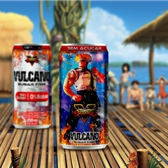Kit Vulcano Energy Drink Street Fighter Todas as latas - loja online