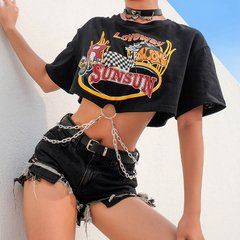 T-shirt Cropped Correntes