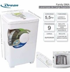 Lavarropas FAMILY  096 A  DREAM  Cod: 0124-0441