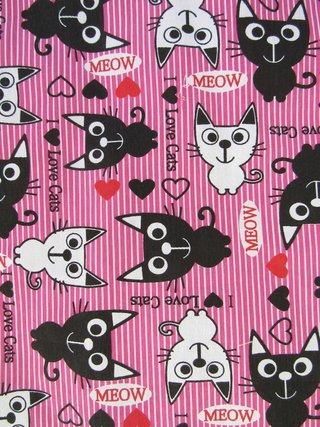 Caminha Rede Love Cats Rosa - MiAusStore
