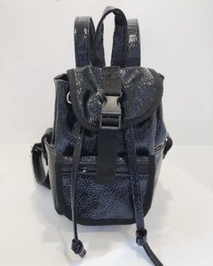 MOCHILA MINI POCKET BRILLO NEGRA