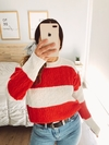 SWEATER RAYADO ROJO