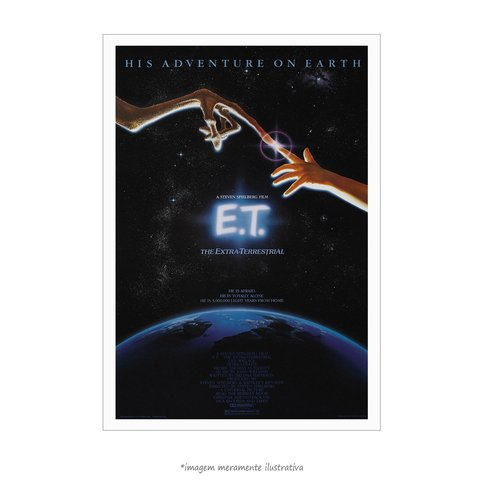 Poster E.T. - O Extraterrestre - Clássico