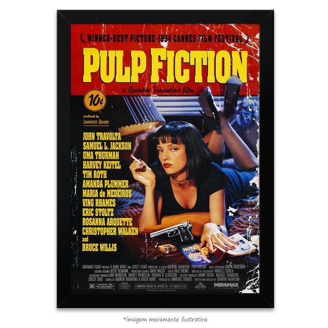 Poster Pulp Fiction - Tempo de Violência