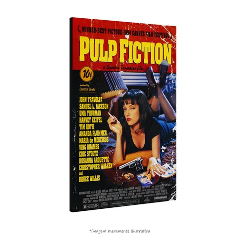 Poster Pulp Fiction - Tempo de Violência na internet