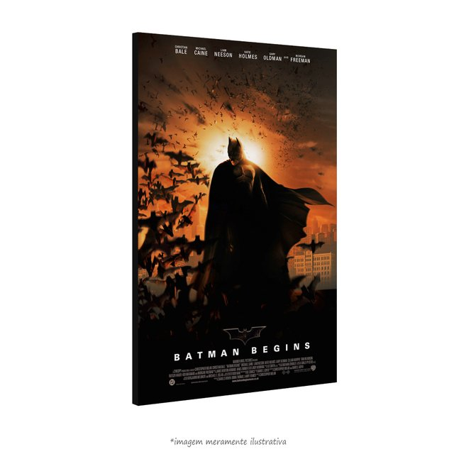 Poster Batman Begins na internet