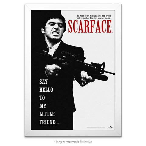 Poster Scarface - Say Hello to My Little Friend - comprar online