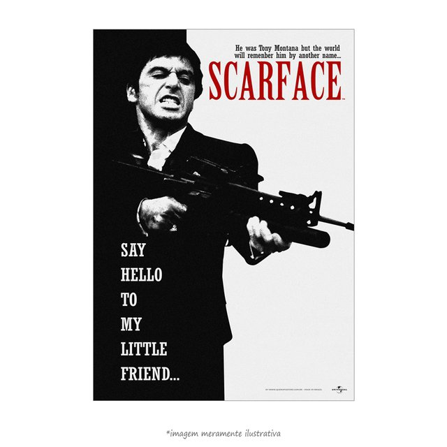 Poster Scarface - Say Hello to My Little Friend - QueroPosters.com