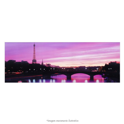 Poster Sunset Eiffel Tower
