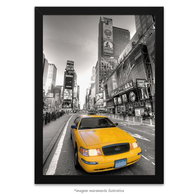 Poster Taxi Amarelo - Times Square