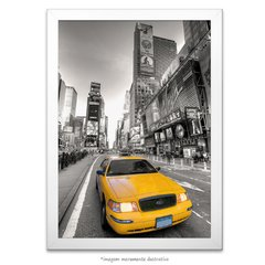 Poster Taxi Amarelo - Times Square - comprar online