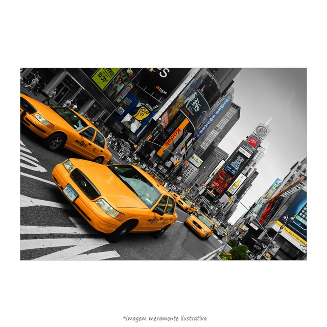 Poster Yellow Taxi - Times Square - QueroPosters.com