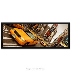 Poster Yellow Taxi - Times Square - vs detalhe colorido - comprar online