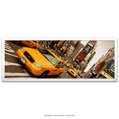 Poster Yellow Taxi - Times Square - vs detalhe colorido na internet