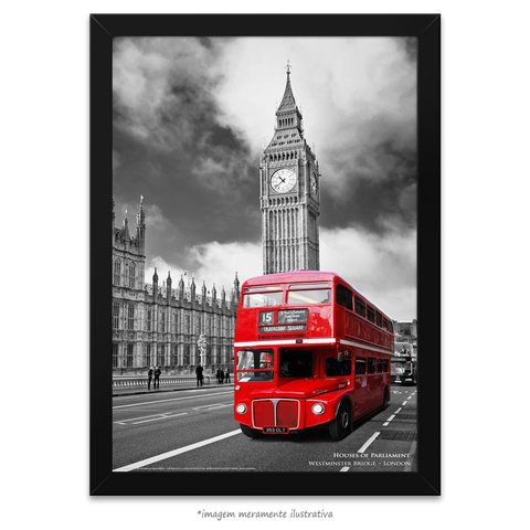 Poster Houses of Parliament - The Red Bus