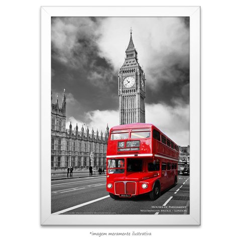 Poster Houses of Parliament - The Red Bus - comprar online