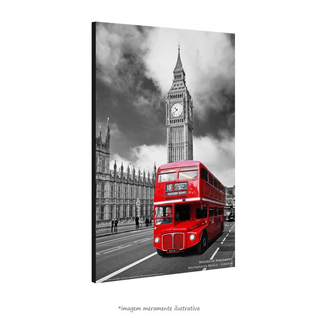 Poster Houses of Parliament - The Red Bus na internet