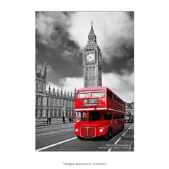 Poster Houses of Parliament - The Red Bus - QueroPosters.com