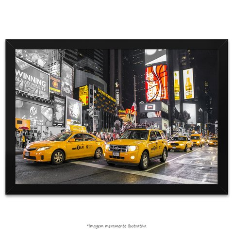 Poster The Times Square - Taxi Amarelo - comprar online