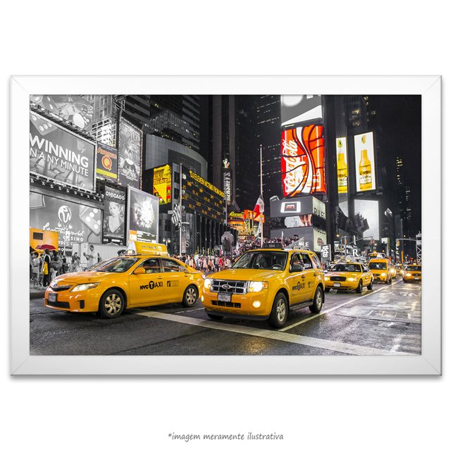 Poster The Times Square - Taxi Amarelo na internet