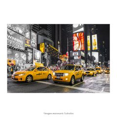Poster The Times Square - Taxi Amarelo - QueroPosters.com