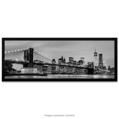 Poster Brooklyn Bridge - NYC - Preto e Branco