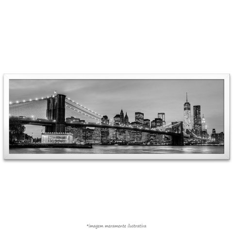 Poster Brooklyn Bridge - NYC - Preto e Branco - comprar online