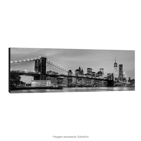 Poster Brooklyn Bridge - NYC - Preto e Branco na internet