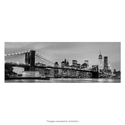 Poster Brooklyn Bridge - NYC - Preto e Branco - QueroPosters.com