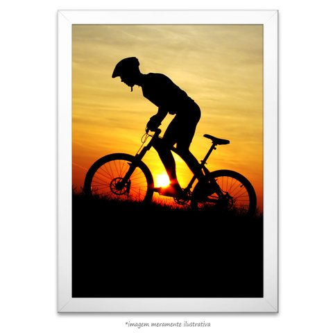 Poster Mountain Biker na internet